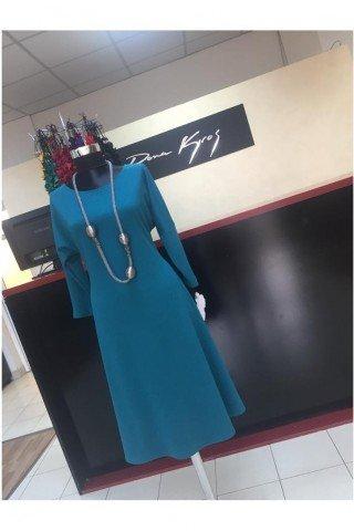 Rochie eleganta evazata turcoaz