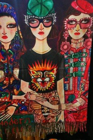 Esarfa casmir multicolora Modern Future