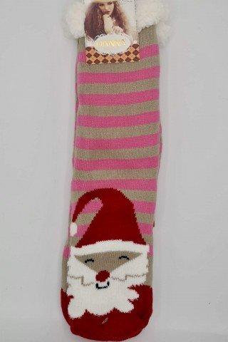 Ciorapi de Craciun multicolori lungi caldurosi