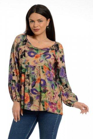 Bluza platca flori Eranthe
