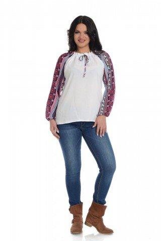 Bluza Eranthe cu imprimeu combinat