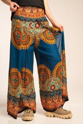 Pantaloni vaporosi petrecuti multicolori