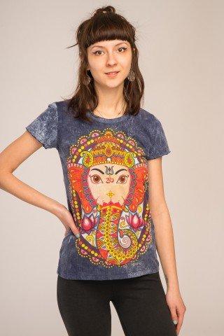 Tricou bleumarin Ganesh
