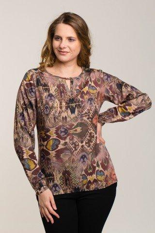 Bluza din vascoza Rapsodie de Primavara