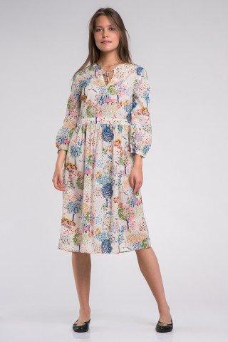 Rochie eleganta cu imprimeu multicolor Life