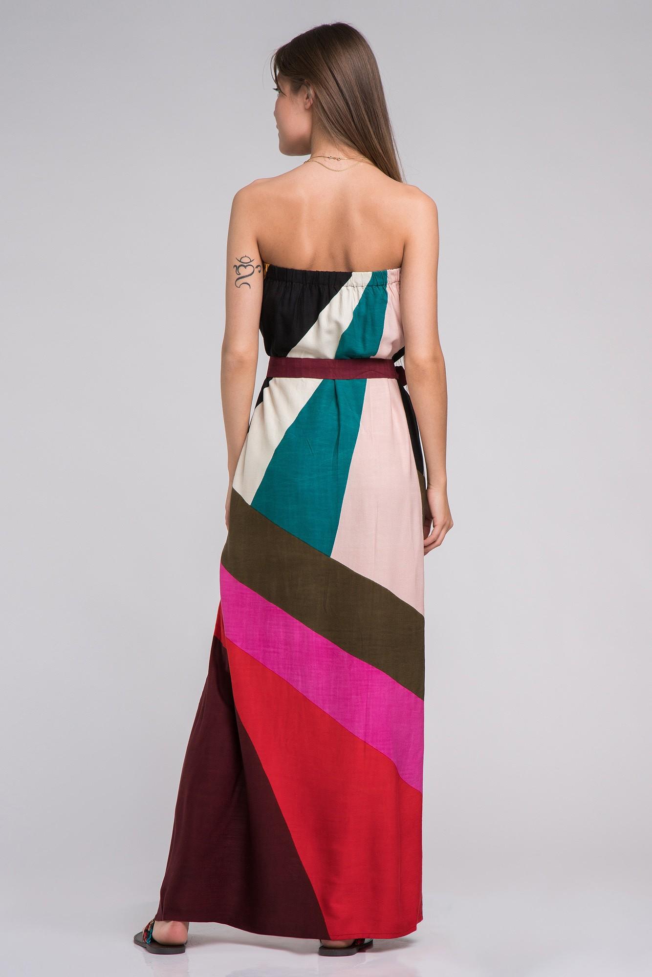 Rochie multicolora bumbac cu cordon Party Time