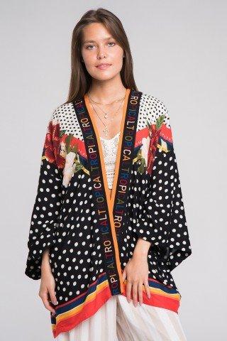 Kimono vaporos multicolor Tropical
