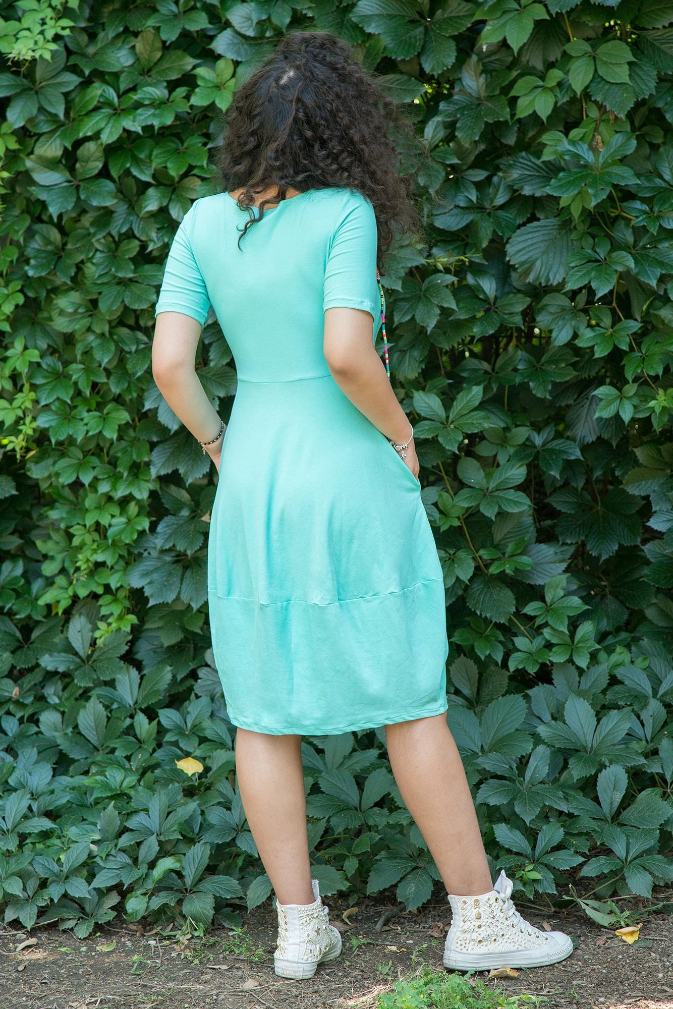 Rochie verde menta tip balon
