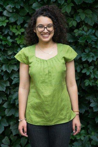 Bluza verde absint din in