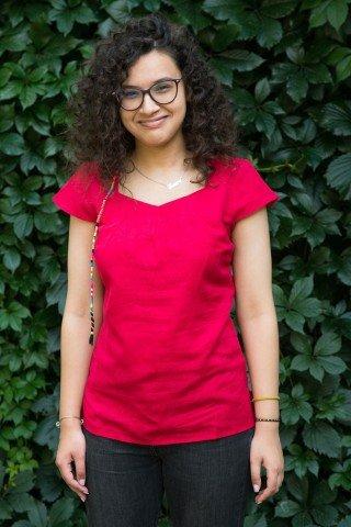 Bluza rosie din in