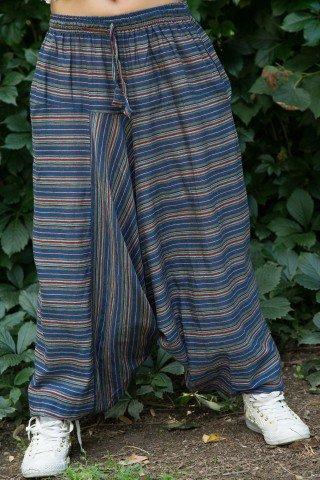 Salvari unisex cu dungi subtiri multicolore