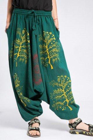 Salvari unisex verzi Tree of Life-Mandala