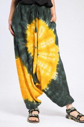 Salvari  unisex Tie-Dye galben-negru