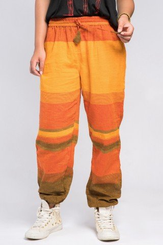 Pantaloni unisex Orange in carouri