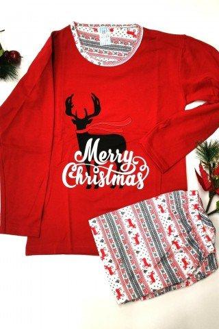 Pijama de Craciun cu ren Merry Christmas