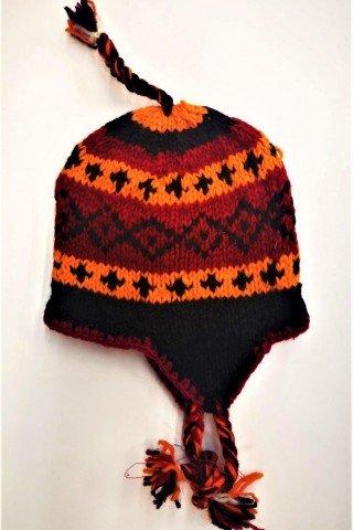 Caciula lana cu dublura polar Pumpkin