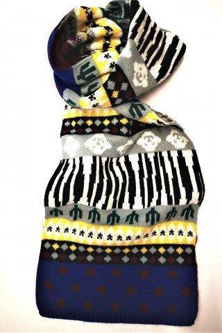 Fular barbatesc multicolor
