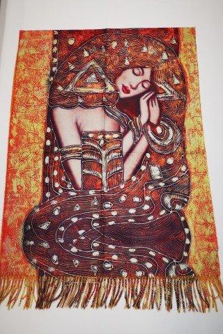 Esarfa art Gustav Klimt