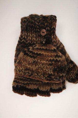 Manusi unisex din lana cu capac si dublura polar