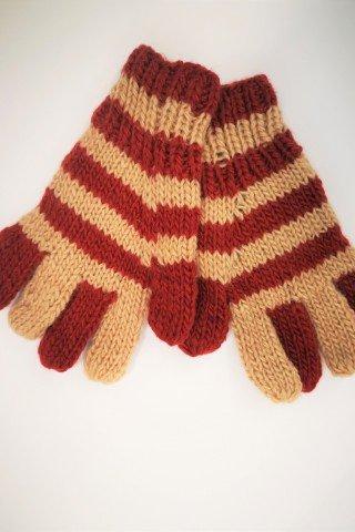 Manusi unisex din lana cu degete si dublura polar