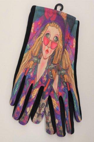 Manusi multicolore touch scren One Girl