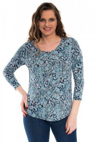 Bluza bumbac cu imprimeu multicolor