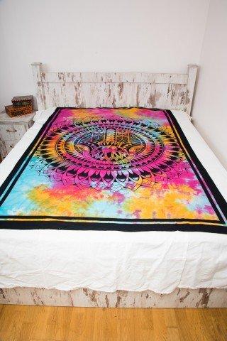 Cuvertura single Tye-Dye Hamsa in The Sun