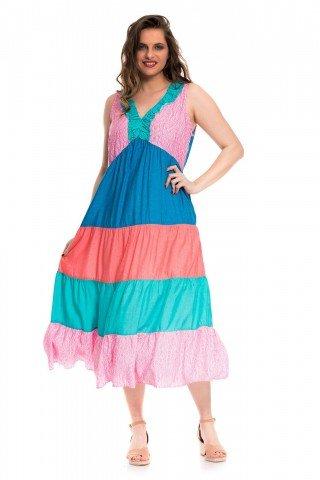 Rochie multicolora cu volane Spring