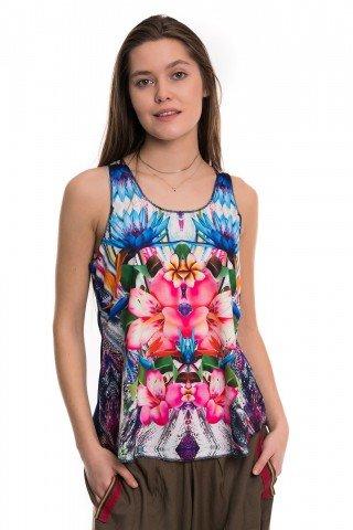 Maiou bleumarin multicolor floral
