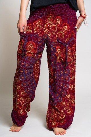 Pantaloni largi visinii mandala