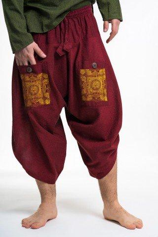 Pantaloni visinii grosi 3/4 cu print mandala