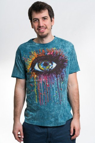 Tricou albastru The Eye
