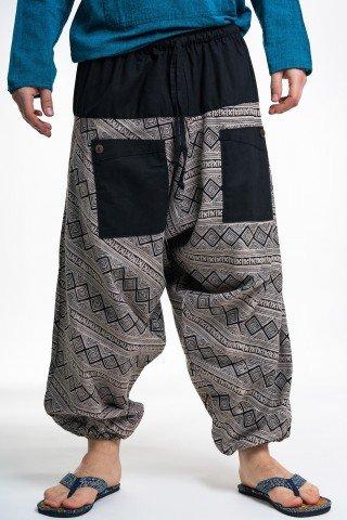 Pantaloni tip salvari romburi cu buzunare