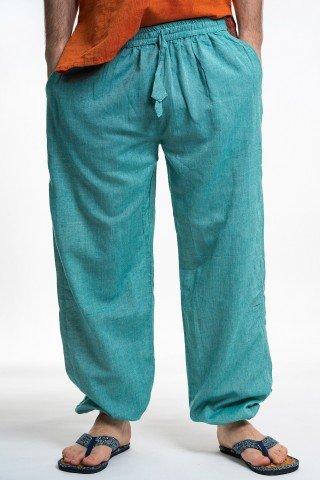 Pantaloni verde deschis cu elastic la glezne