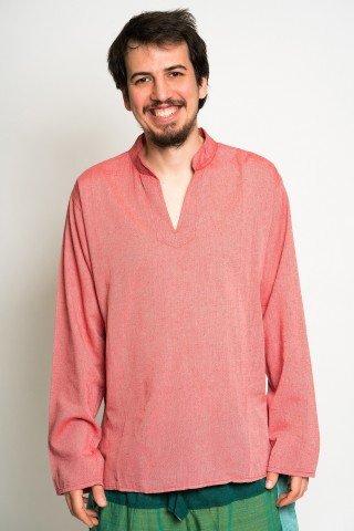 Camasa cu guler tunica roz