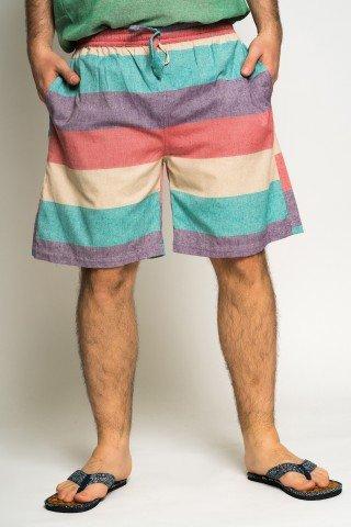 Pantaloni scurti cu dungi late Summer Time