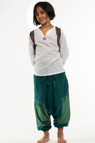 Salvari copii verzi cu alb