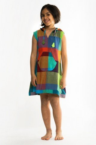 Tunica multicolora de copii cu gluga