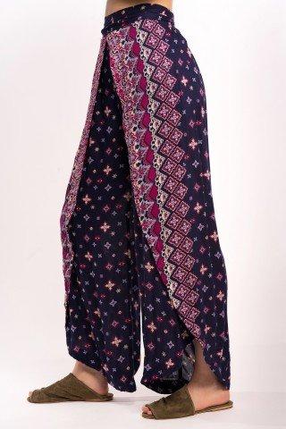 Pantaloni bleumarin petrecuti Lalea
