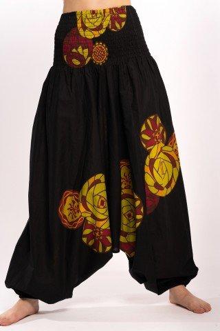 Salvari 3 in 1 negru cu spirale galben-fistic
