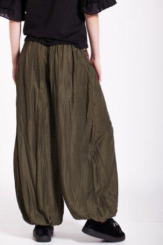 Pantaloni kaki cu brau traditional si ciucuri