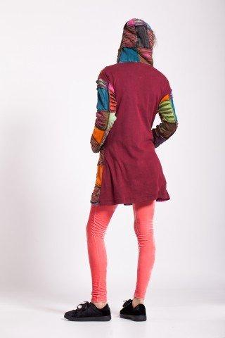Jacheta colorata groasa cu dublura de polar