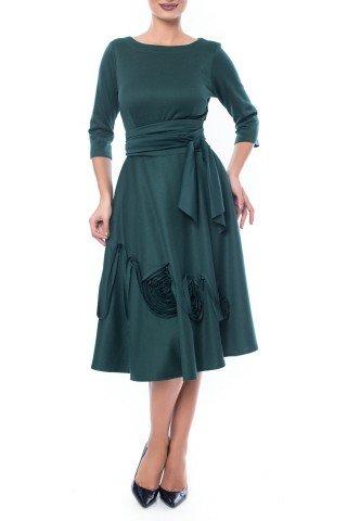 Rochie verde cu ornament