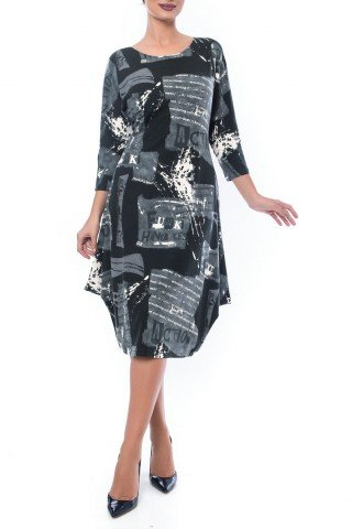 Rochie imprimata cu falduri