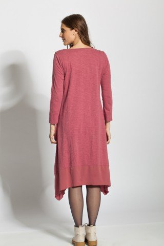 Rochie rosu india asimetrica Vanda cu aplicatii