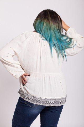 Bluza alba eleganta Amina cu imprimeu negru