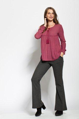 Bluza visinie eleganta cu imprimeu si anchior