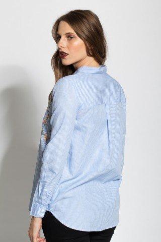 Camasa bleu Malini brodata