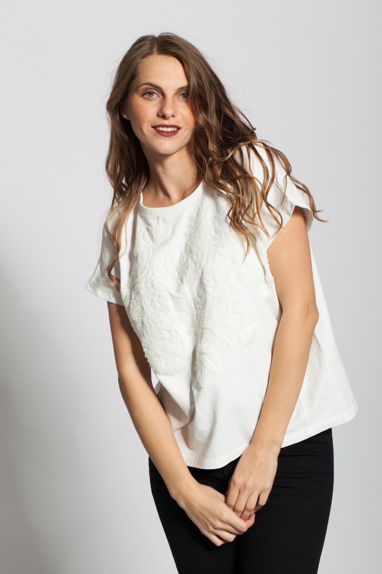 Bluza alba Ania groasa