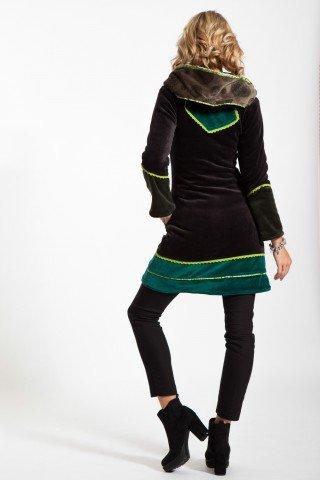 Jacheta verde Myrea din catifea